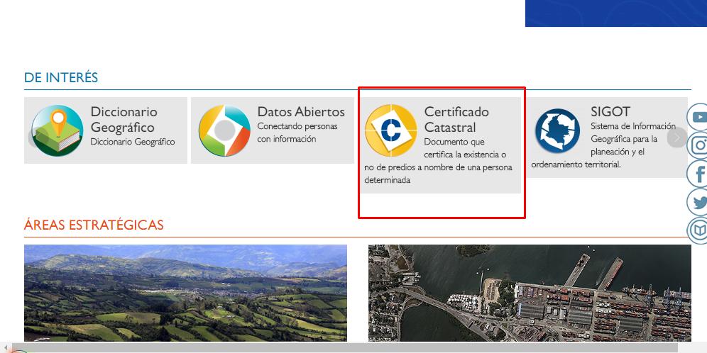 Pasos para obtener un certificado Catastral en línea