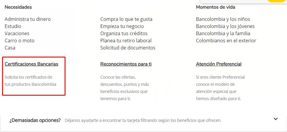 Tramitar certificación Bancolombia Tutorial