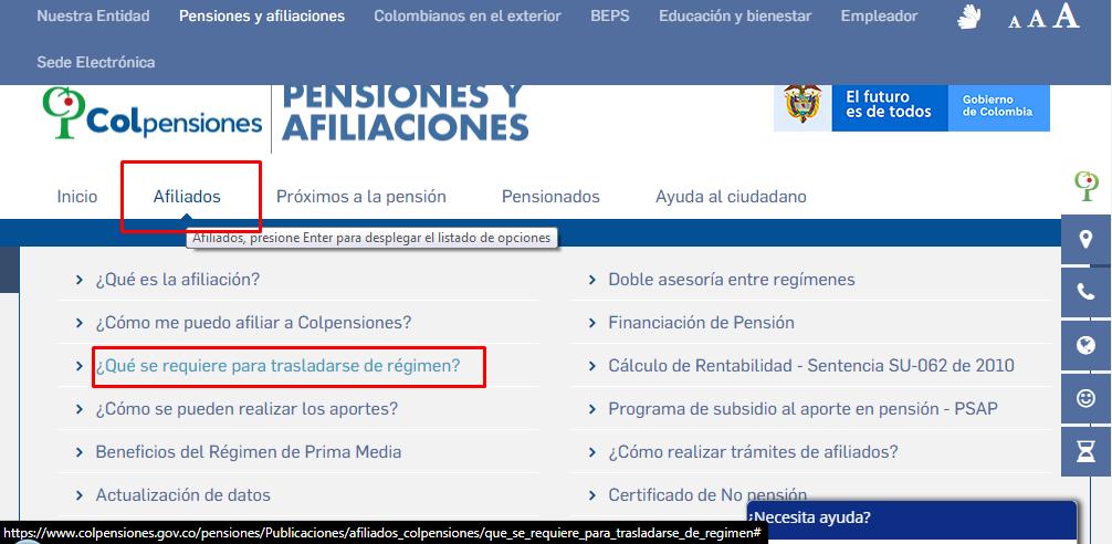 Fondo de Pensiones Colombia