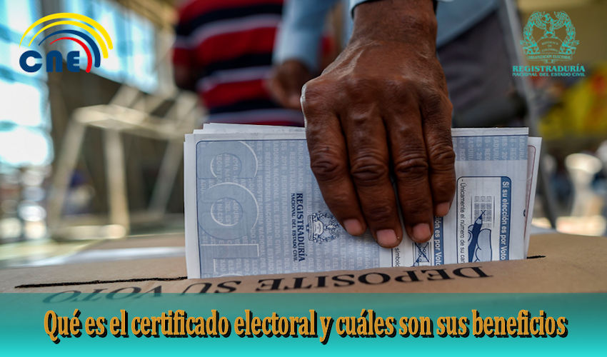 certificado electoral