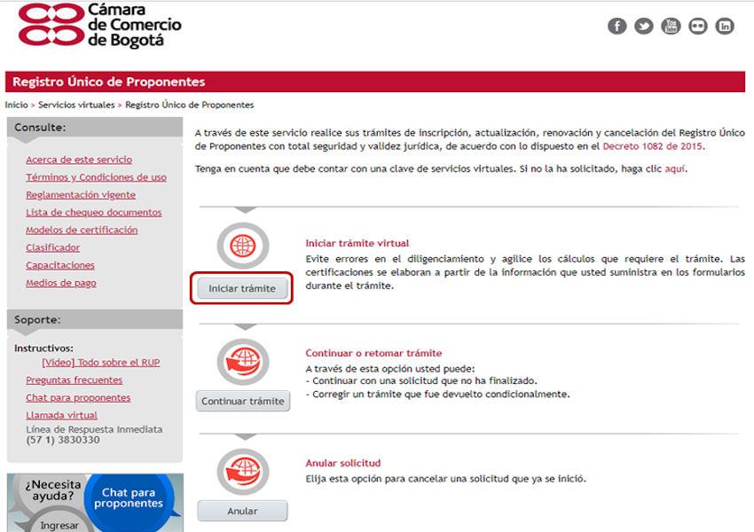 certificado de cámara de comercio