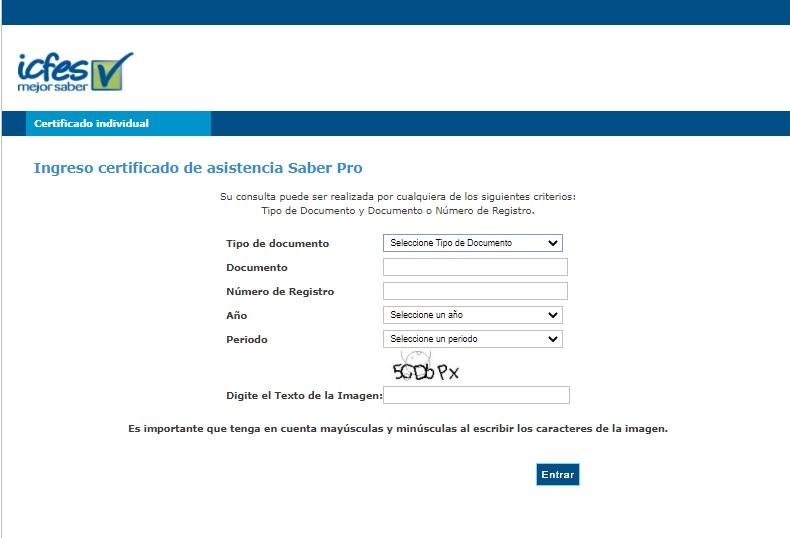 Certificado Saber Pro