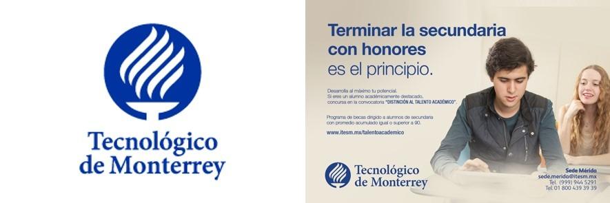 logo e infografía del tecnológico de monterrey