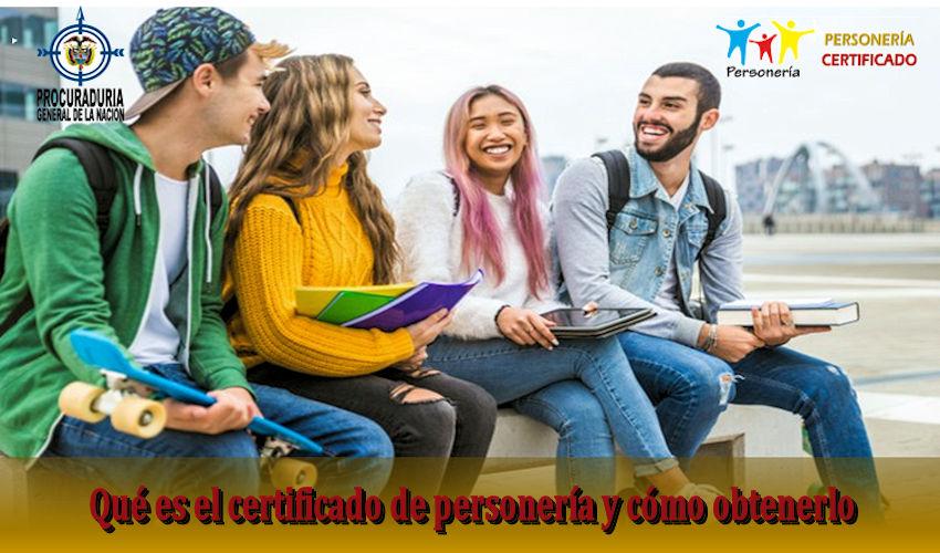 certificado de personería
