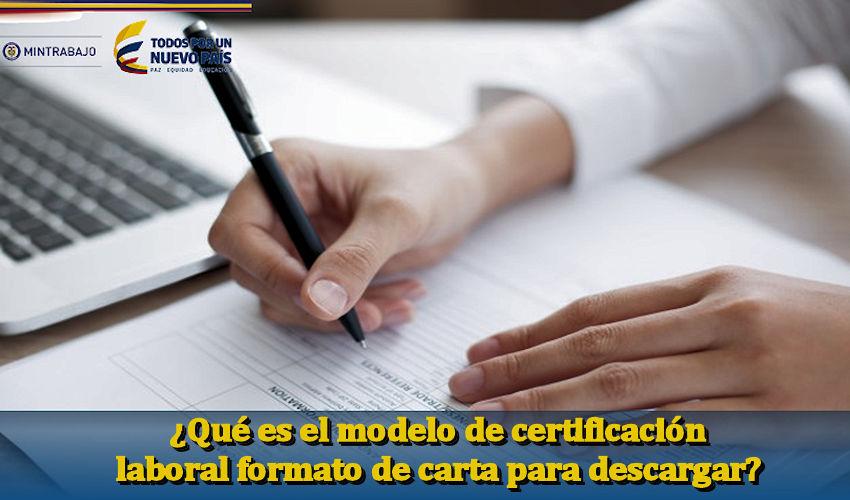 modelo de certificación laboral formato de carta para descargar