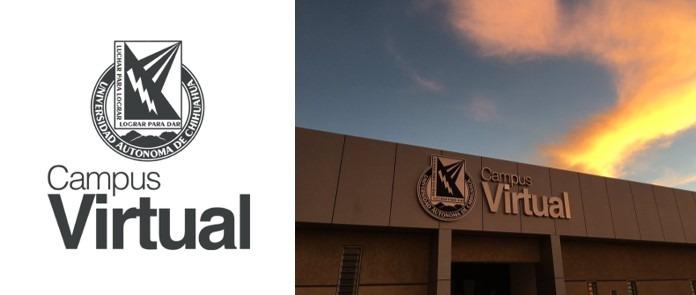 uach virtual logo y fachada